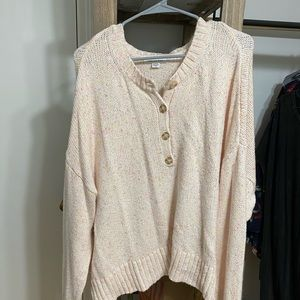 American Eagle Knit crop button up sweater